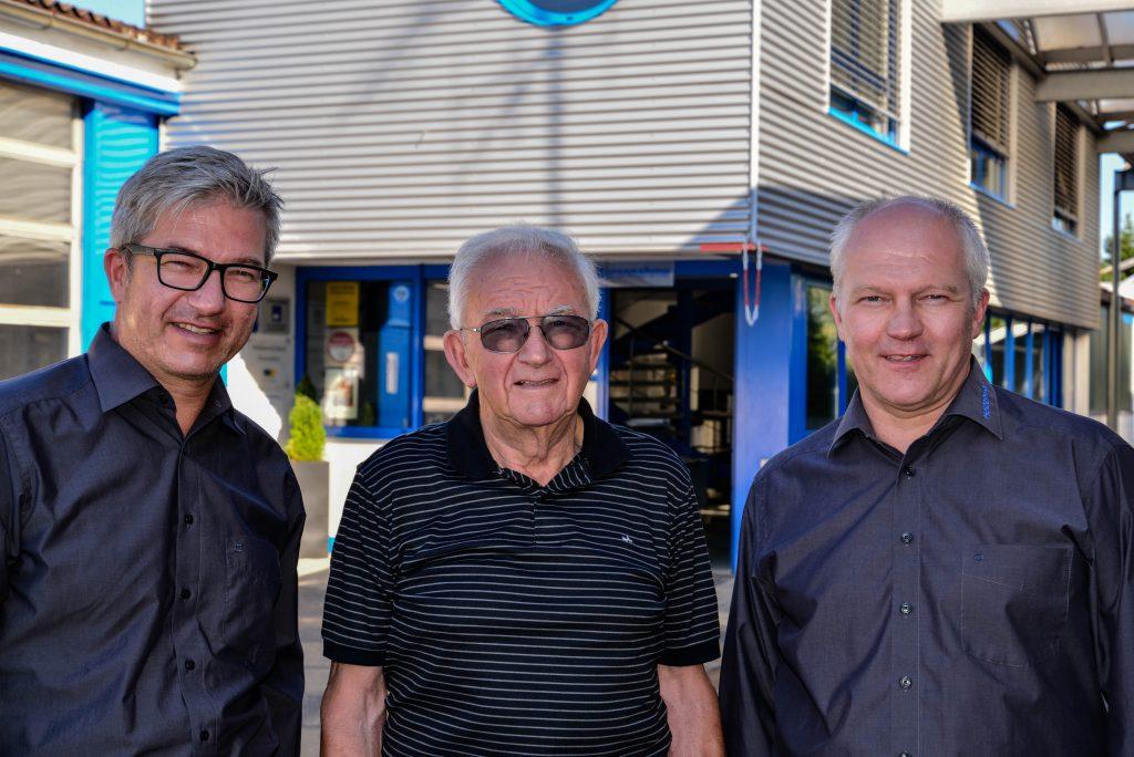 V. l. n. r.: Rainer Heidenwag, Heinz Heidenwag, Gerd Heidenwag
